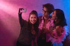 Selfie avec des amis Images stock