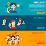 Selfie Banner Set Stock Photos