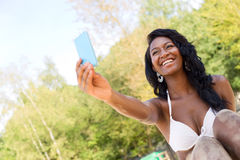 Selfie at the beach Stock Images