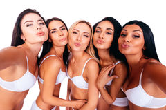 Selfie from beauties. Royalty Free Stock Images