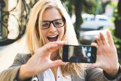 Selfie Royalty Free Stock Photography