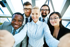 Selfie of business group Stock Photo