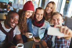 Selfie in cafe Stock Photos