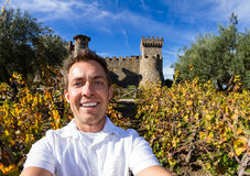 Selfie with a Castle Royalty Free Stock Photo