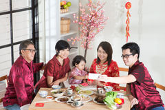Selfie during Chinese New Year Reunion Dinner Stock Photos