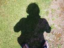 Selfie cień Zdjęcia Stock