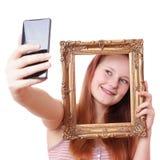 Selfie con el marco Fotografía de archivo libre de regalías