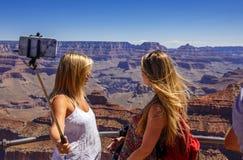 Selfie con il canyon di Gran fotografie stock libere da diritti