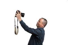 Selfie con la grande macchina fotografica Fotografie Stock