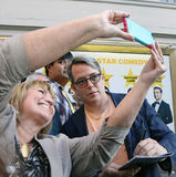 Selfie con Matthew Broderick Immagine Stock