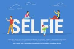 Selfie concept illustration Royalty Free Stock Image