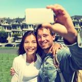 Selfie - couple prenant la photo à San Francisco Images stock