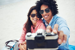 Selfie couple Royalty Free Stock Images