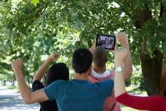 Selfie d'étudiants Images libres de droits