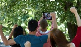 Selfie d'étudiants Photographie stock