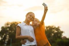 Selfie d'amis Images libres de droits