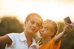 Selfie d'amis Photo libre de droits