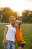 Selfie d'amis Image libre de droits