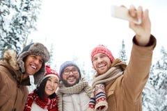 Selfie d'hiver Photographie stock libre de droits