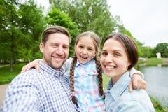 Selfie da família Imagens de Stock