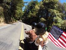Selfie da motocicleta imagem de stock