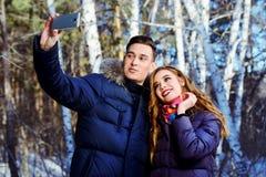 Selfie dans la forêt Image stock