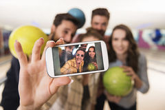 Selfie dans le bar Photographie stock libre de droits