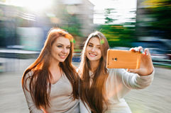 Selfie das mulheres Fotografia de Stock
