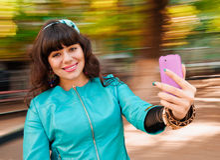 Selfie de femme Photo stock