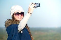 Selfie de la chica joven Fotografía de archivo