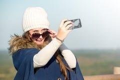 Selfie de la chica joven Fotos de archivo