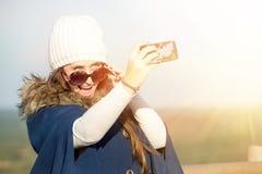 Selfie de la chica joven Fotografía de archivo libre de regalías