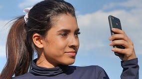 Selfie de la muchacha adolescente hispánica Imagen de archivo libre de regalías
