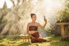 Selfie de la mujer fotografía de archivo libre de regalías