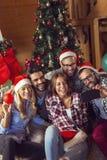 Selfie de la Navidad foto de archivo libre de regalías
