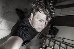 Selfie de la roca del garaje Imagen de archivo