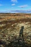 Selfie de la sombra de los fotógrafos Foto de archivo libre de regalías