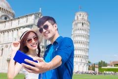 Selfie de la toma de los pares en Italia foto de archivo libre de regalías