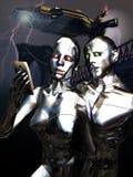 Selfie de los androides Foto de archivo libre de regalías
