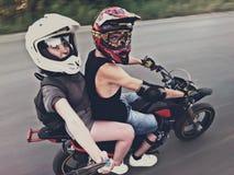 Selfie de Moto Foto de Stock