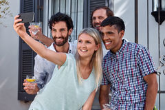 Selfie de réception en plein air Image stock