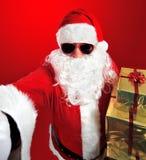 Selfie de Santa Claus com presentes Fotografia de Stock