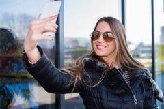 Selfie de Takeing photographie stock libre de droits