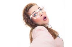 Selfie de uma moça bonita Fotos de Stock