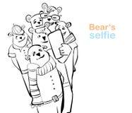 Selfie del oso muchos osos hacen la foto del uno mismo Imagenes de archivo