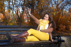 Selfie del otoño Imagenes de archivo