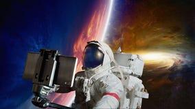 Selfie dello spazio fotografie stock libere da diritti