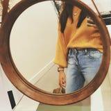 Selfie dello specchio Fotografia Stock