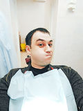 Selfie in a Dental Office. A Patient does Selfie in a Medical Dental Clinic Royalty Free Stock Images