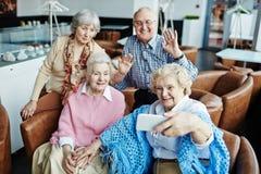 Selfie des aînés Image libre de droits